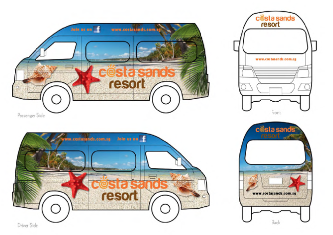 Costa sands resort vehicle wrap