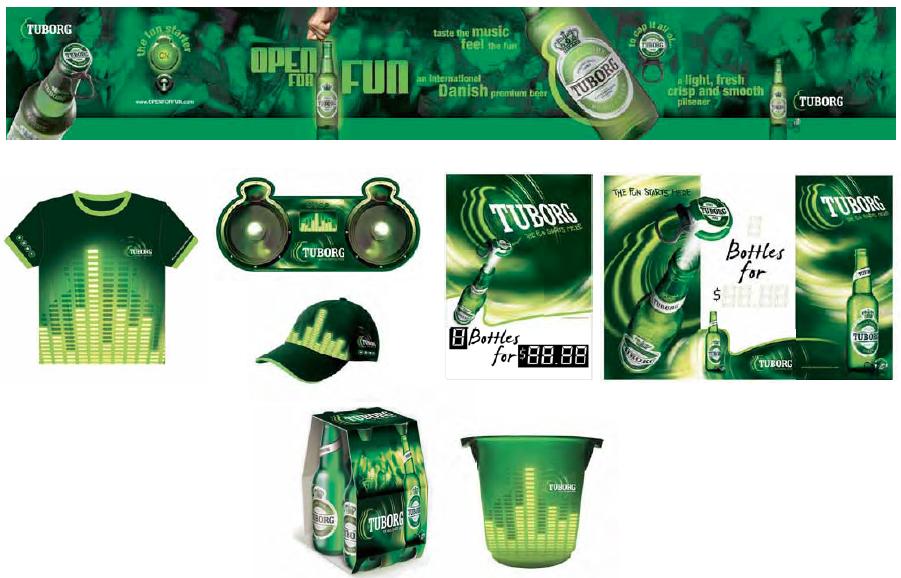 Tuborg full branding package