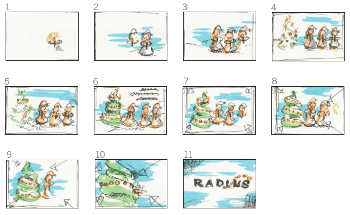 TV production advertisement storyboard